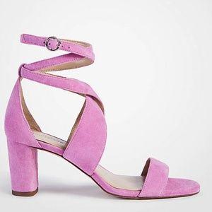 Pink Ann Taylor Strappy Sandal Heels!
